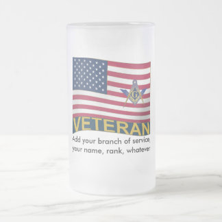 Brother Veteran Frosted Glass Beer Mug