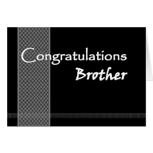 Brother wedding congratulations funny card zazzle