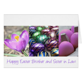 Wife easter gifts on zazzle brother amp wife happy easter card negle Images