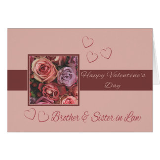 Brother & Wife  Happy Valentine's Day Roses Card