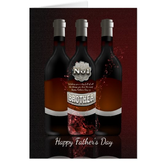 Brother Wine Bottles Father's Day Greeting Card No
