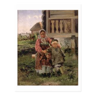 Brother y hermana, 1880 postales