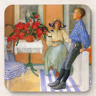 Brother y hermana en el Sunroom 1911 Posavasos De Bebidas