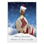 Brother y navidad del frailecillo de la cuñada que tarjeta de felicitación