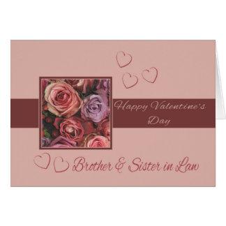 Brother y rosas felices del el día de San Valentín Tarjeta De Felicitación