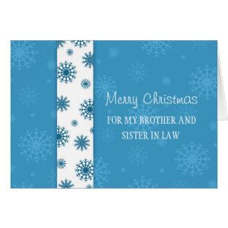 Brother y tarjeta de las Felices Navidad de la cuñ
