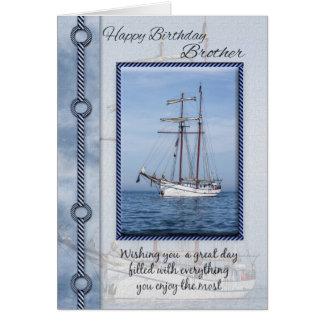 Brother Yacht Birthday Greeting Card