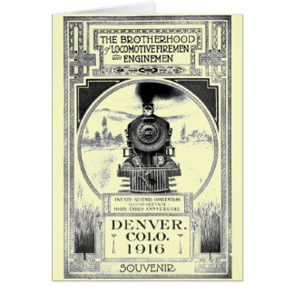 Brotherhood of Locomotive Firemen and Enginemen Greeting Card