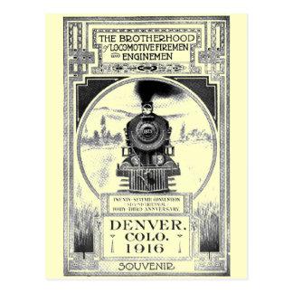 Brotherhood of Locomotive Firemen and Enginemen Postcard