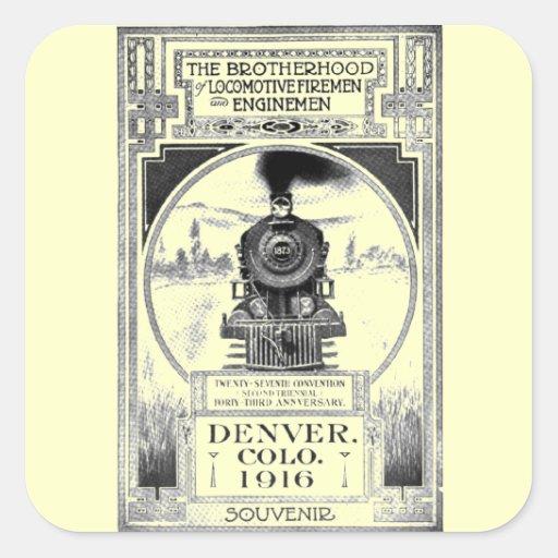 Brotherhood of Locomotive Firemen and Enginemen Square Sticker