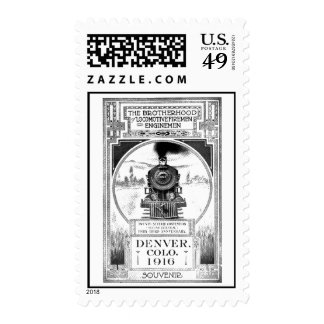 Brotherhood of Locomotive Firemen & Enginemen Postage Stamp