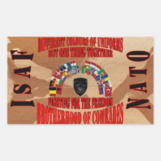 Brotherhood OF Military Comrades Rectangular Stickers