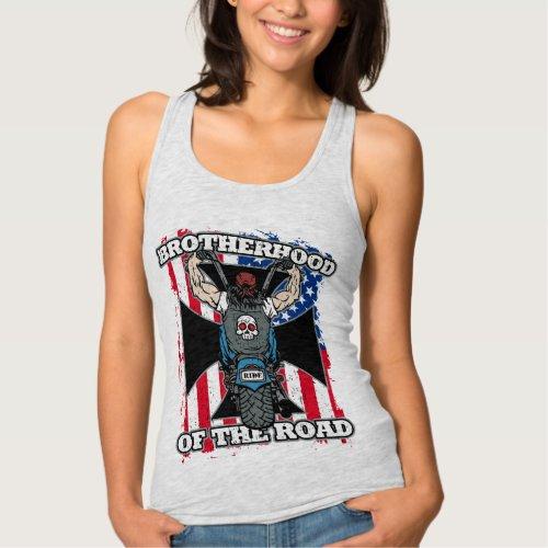 Brotherhood of the Road Motorcycle Riders Tank Top