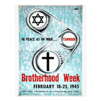 Brotherhood Week Custom Flyer