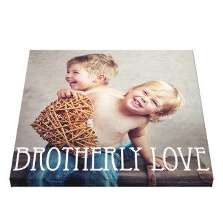 Brotherly Love Custom Photo Canvas Canvas Print