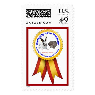 Brotherly Love Rabbitry Logo Postage Stamp