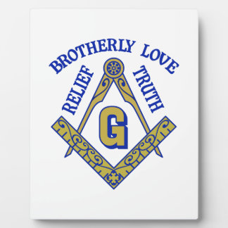 Brotherly Love Relief Truth Display Plaque