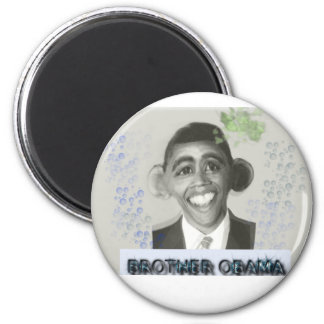 BrotherObama 2 Inch Round Magnet