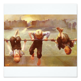 Brothers and Sisters At Play Dorothy Tennant 5.25x5.25 Square Paper Invitation Card