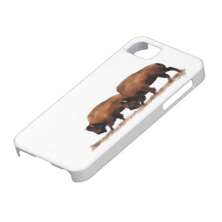 'Brothers' Buffalo Painted iPhone Case