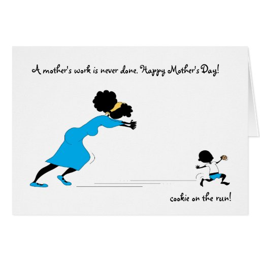 Brother's cookie on the run... stationery note card