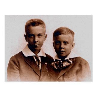 Brothers Henry & Palmer BURG, circa 1920 Postcard