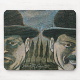 Brothers in Bowler Hats Mousepads