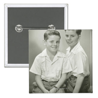 Brothers in Studio Button
