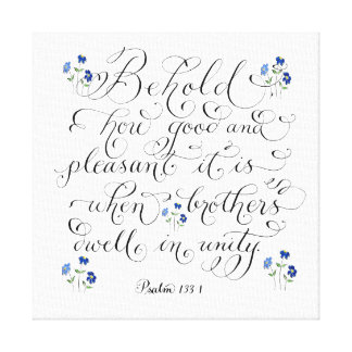 Brothers in unity inspirational typography verse canvas print