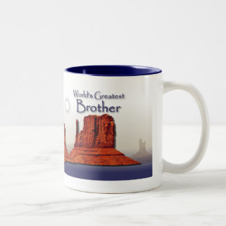 Brother's Loving Hands Blue Mug