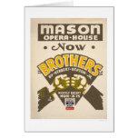 Brothers Opera House 1938 WPA Card