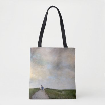 Beach Themed brothers photograph tote bag