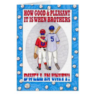 Brothers Unity Birthday Card