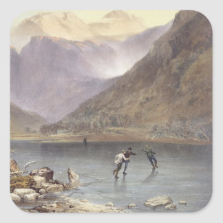 Brothers Water, detail of ice skaters, from 'The E Square Sticker
