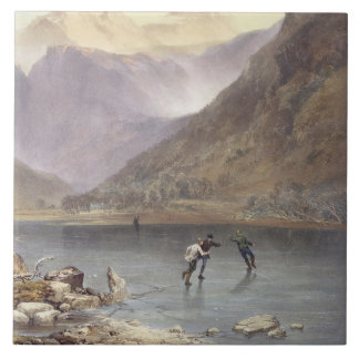 Brothers Water, detail of ice skaters, from 'The E Tile