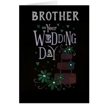 Bride Themed ****BROTHER'S WEDDING DAY**** WISHED MUCH LOVE CARD