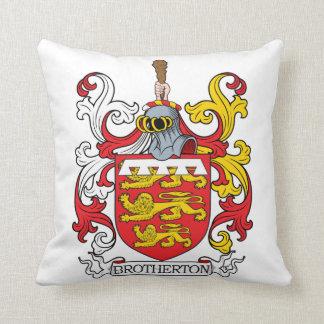 Brotherton Family Crest Throw Pillow