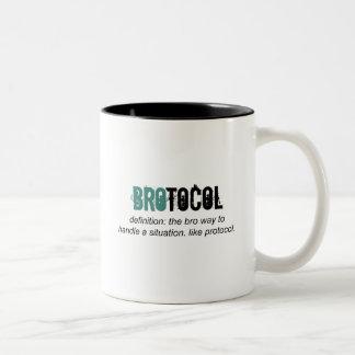 brotocol o protocolo taza de dos tonos