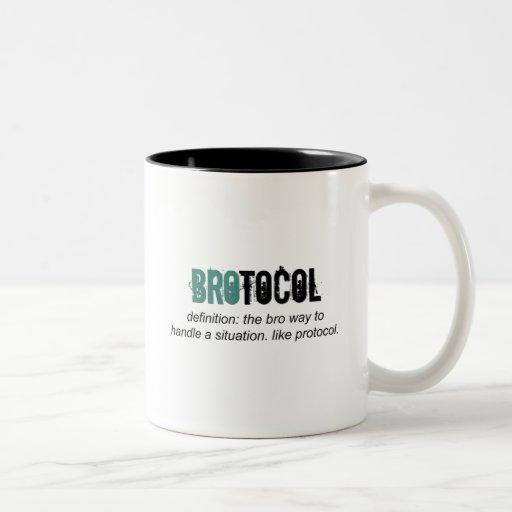 brotocol o protocolo taza dos tonos