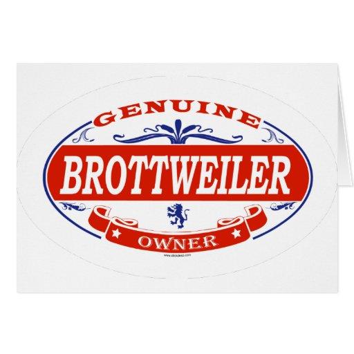 Brottweiler Tarjeta De Felicitación
