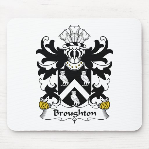 Broughton Family Crest Mouse Mats