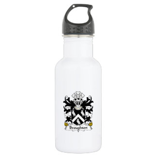 Broughton Family Crest Stainless Steel Water Bottle