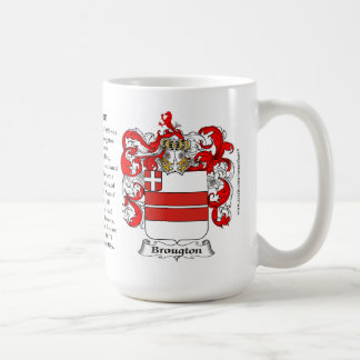 Broughton, the Origin, the Meaning and the Crest Coffee Mug