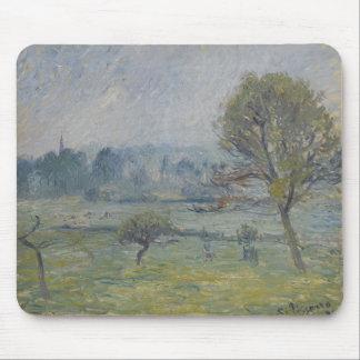 Brouillard à Éragny by Camille Pissarro Mouse Pad