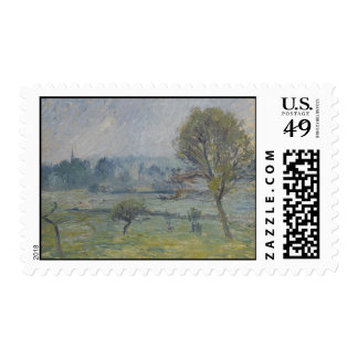 Brouillard à Éragny by Camille Pissarro Postage Stamp