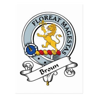 Broun Clan Badge Postcard