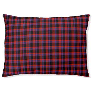 Broun Scottish Tartan Pet Bed