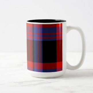 Broun Scottish Tartan Two-Tone Coffee Mug