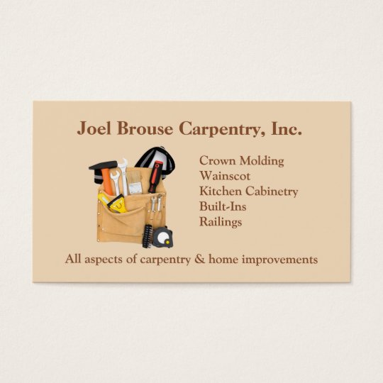 Brouse carpentry business card zazzle brouse carpentry business card colourmoves