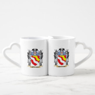 Brouwer Coat of Arms - Family Crest Couples' Coffee Mug Set